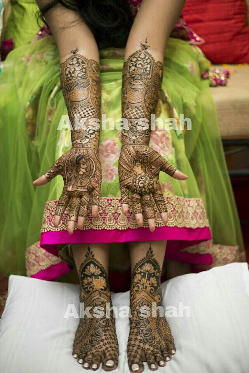 Photo From Bride Shobhana - By Aksha Shah Mehendi Designer