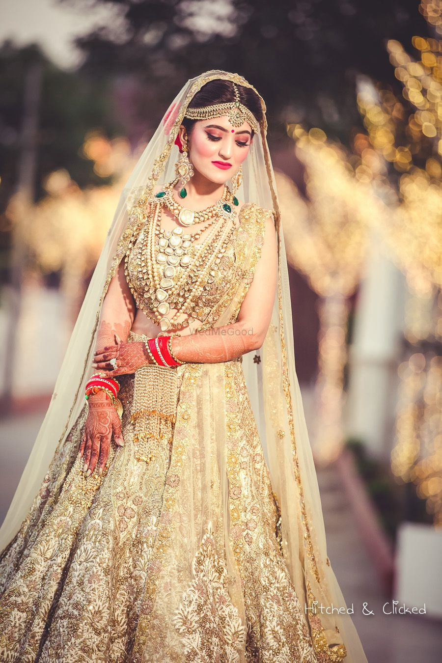 Photo of Stunning bride in Gold