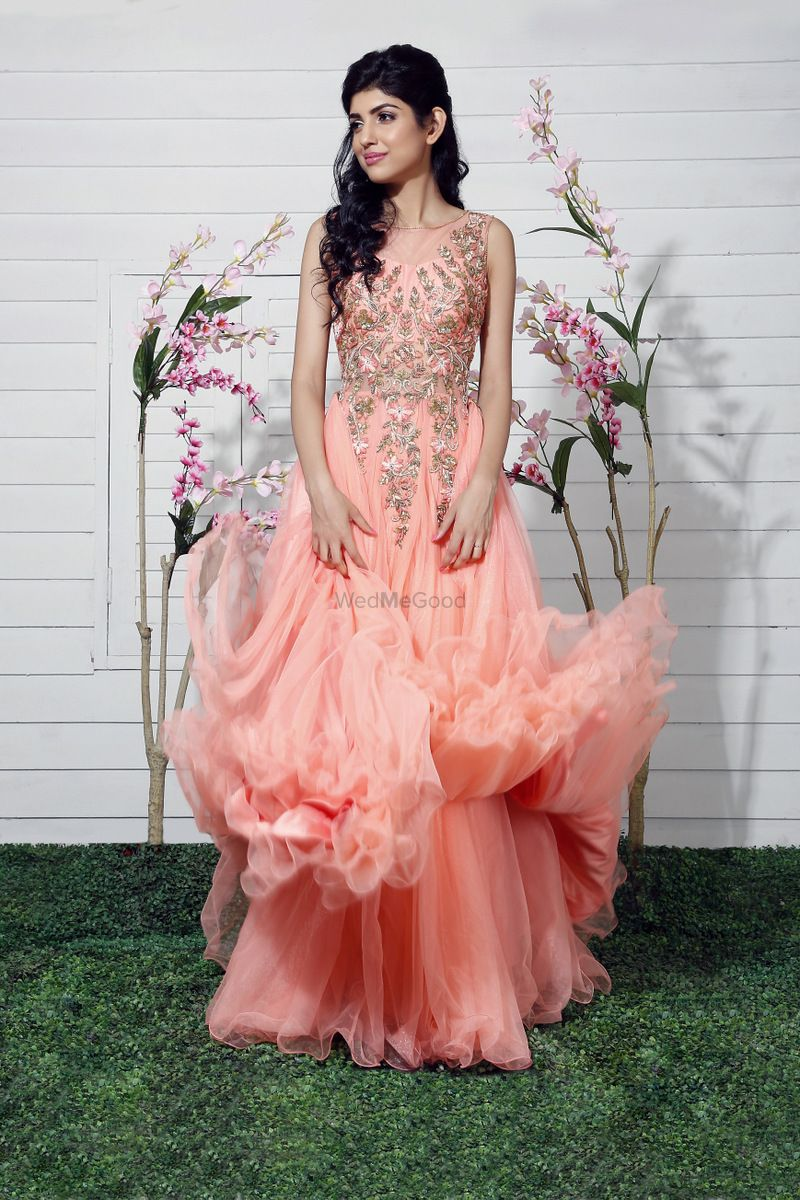 Photo of pastel pink gown