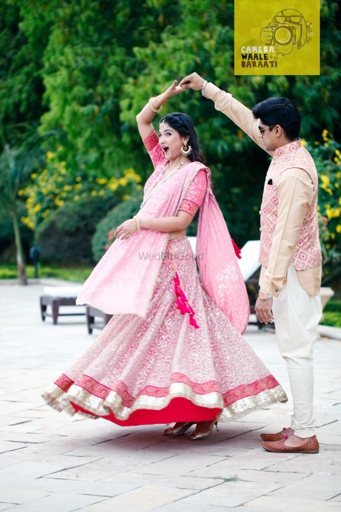 Photo of spinning bride