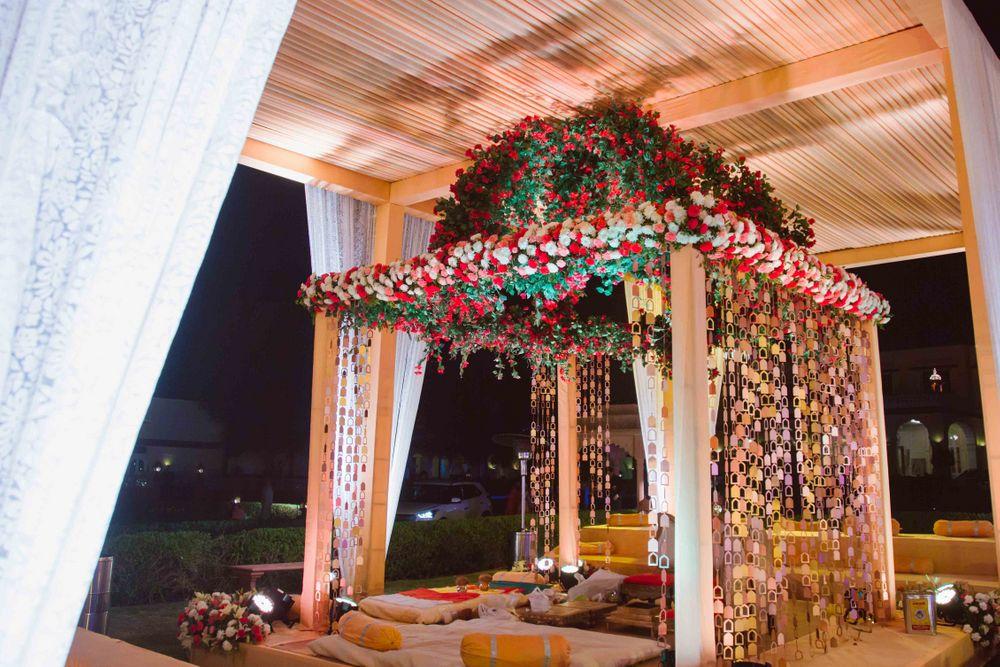 Photo of Floral mandap decor