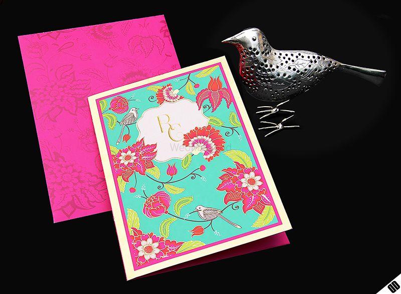 Photo of aqua and pink invite