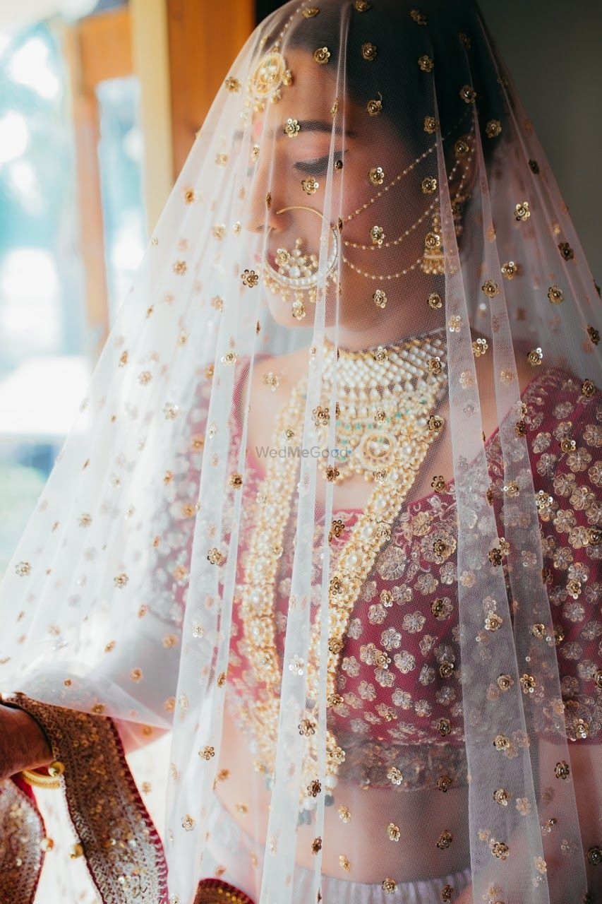 Photo of Sunning bride in veil shot