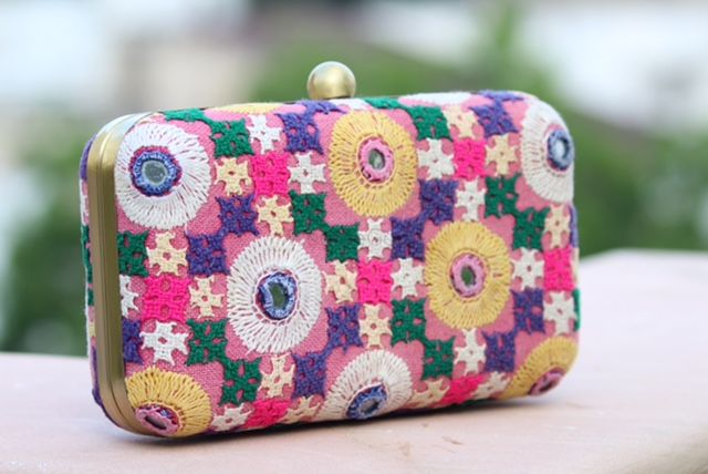 Photo of bright and colourful clutch