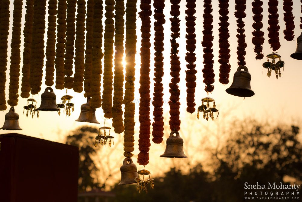 Photo of flowers and bells decor