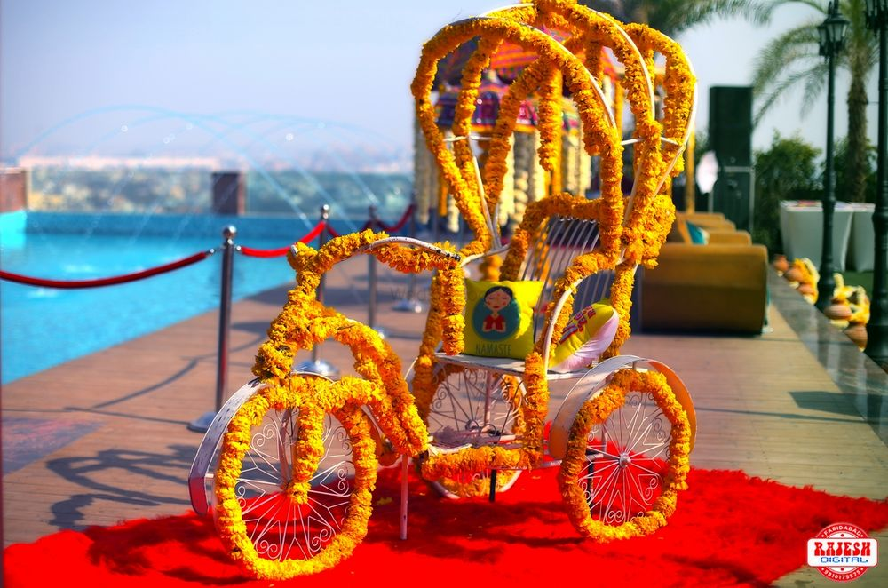 Photo of Floral rikshaw for mehendi