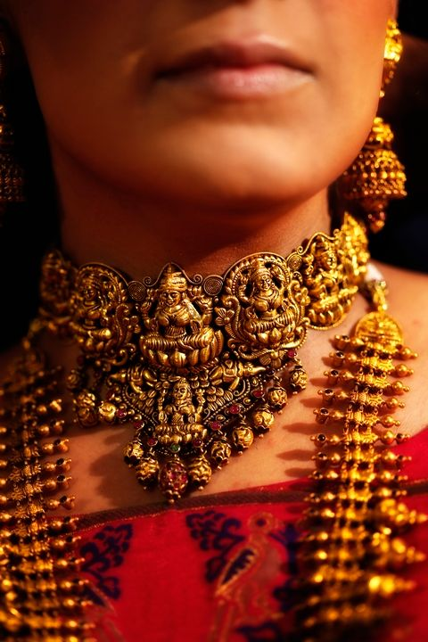 Photo of Gold temple jewelry for brides