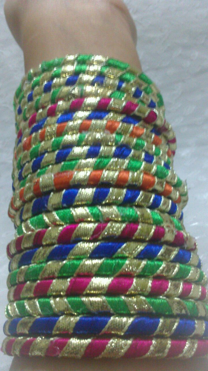 Photo of colorful bangles . gota bangles