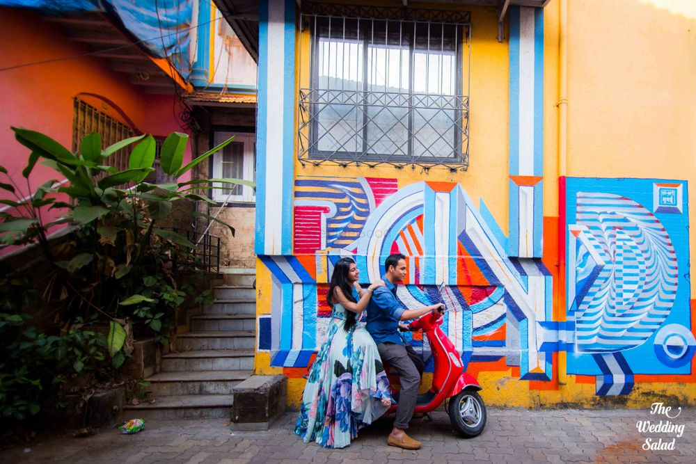 Photo From Mumbai Street Art Pre-Wedding Shoot. - By The Wedding Salad