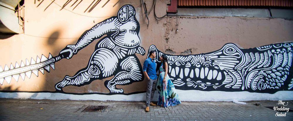 Photo From Mumbai Street Art Pre-Wedding Shoot. - By The Wedding Salad