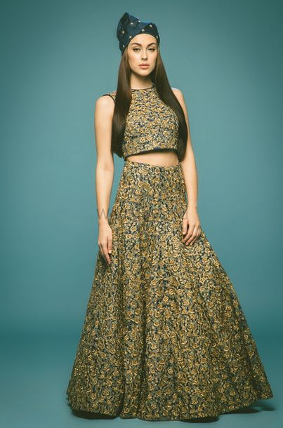Photo of crop top and skirt