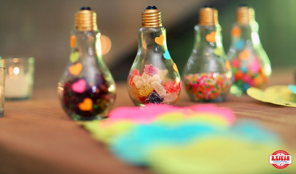 Photo of Bright and colorful decor elements