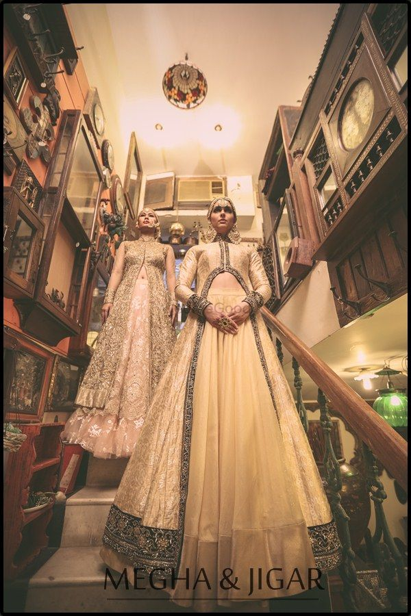 Photo of cream lehenga