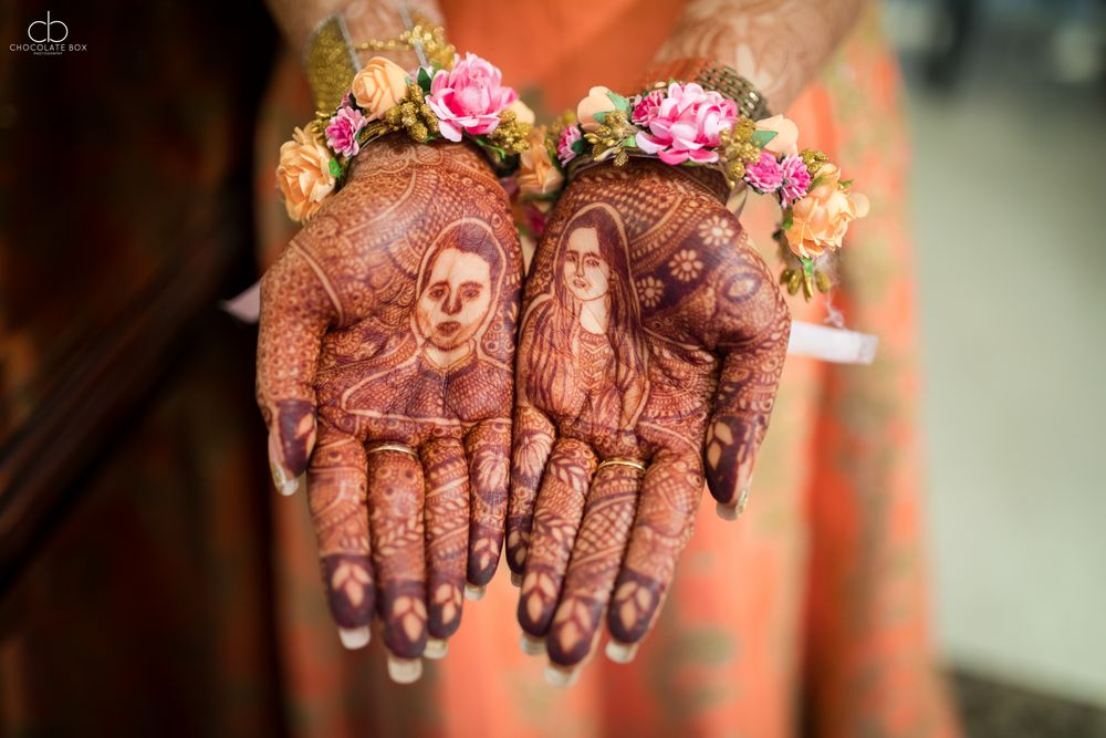 Photo of Unique portrait mehendi
