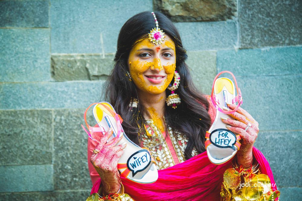 Photo of Customised fun bridal shoes