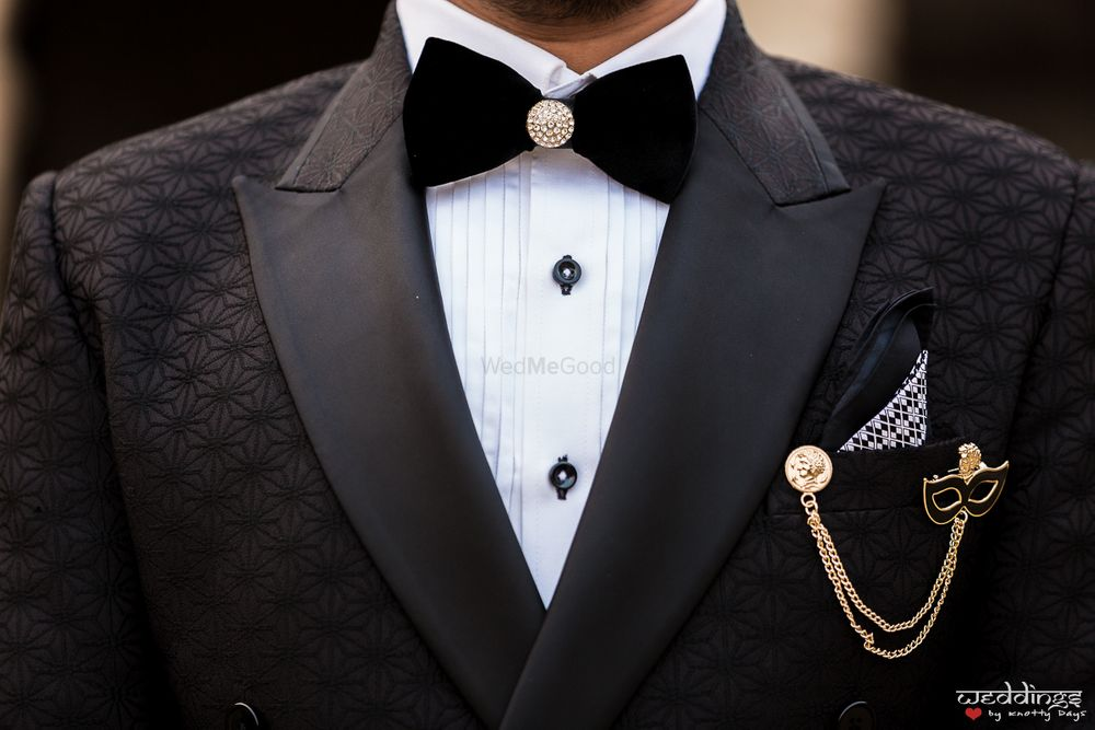 Photo of Unique groom accessories for reception