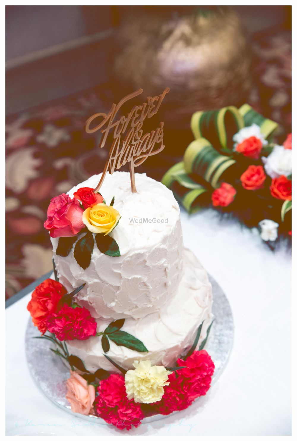 Photo of two tier cake
