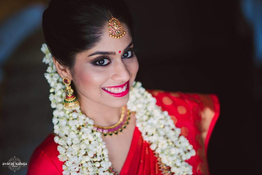 Photo of red south Indian saree