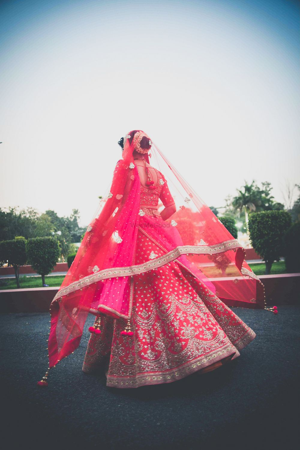 Photo of Pretty bridal lehenga shot from behind