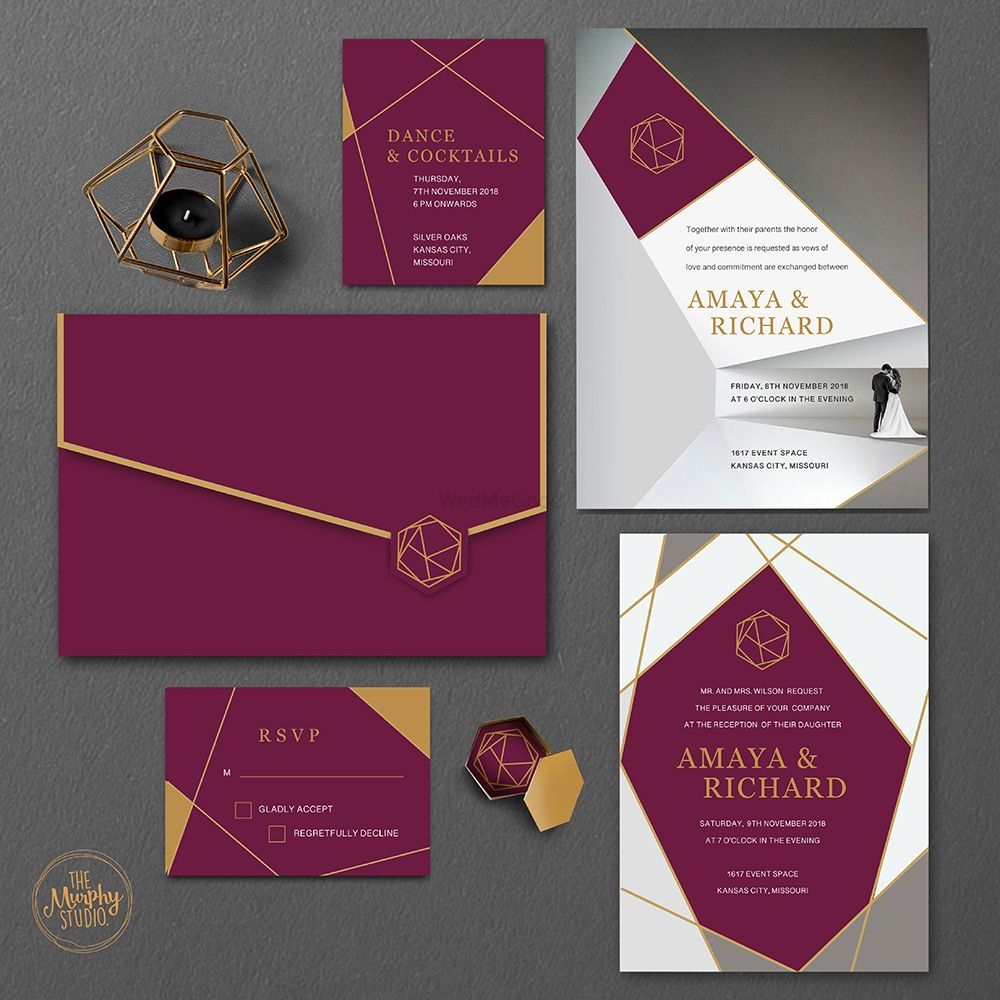 Photo From GEOMETRIC LUXE WEDDING INVITATIONS - By The Murphy Studio