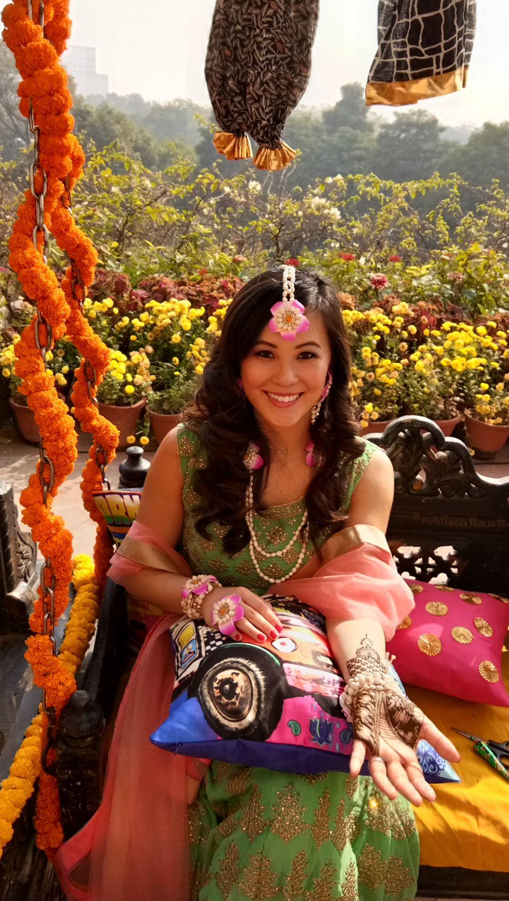 Photo From Christina and Rohit mehendi ceremony at Taj Mahal hotel, New Delhi  on 28th Dec 2017 - By Shalini Mehendi Artist