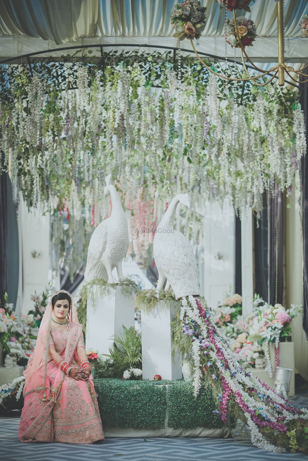 Photo of Anand Karaj pastel decor with floral birds