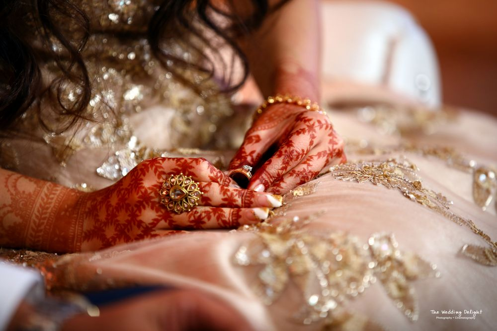 Photo of Bridal manicure with cocktail ring