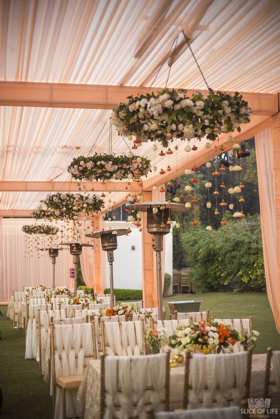 Photo of Unique trellis hanging floral decor