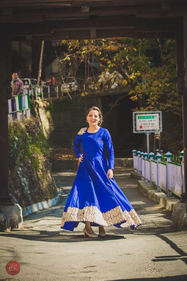 Light Blue Pre Wedding Shoot Photo