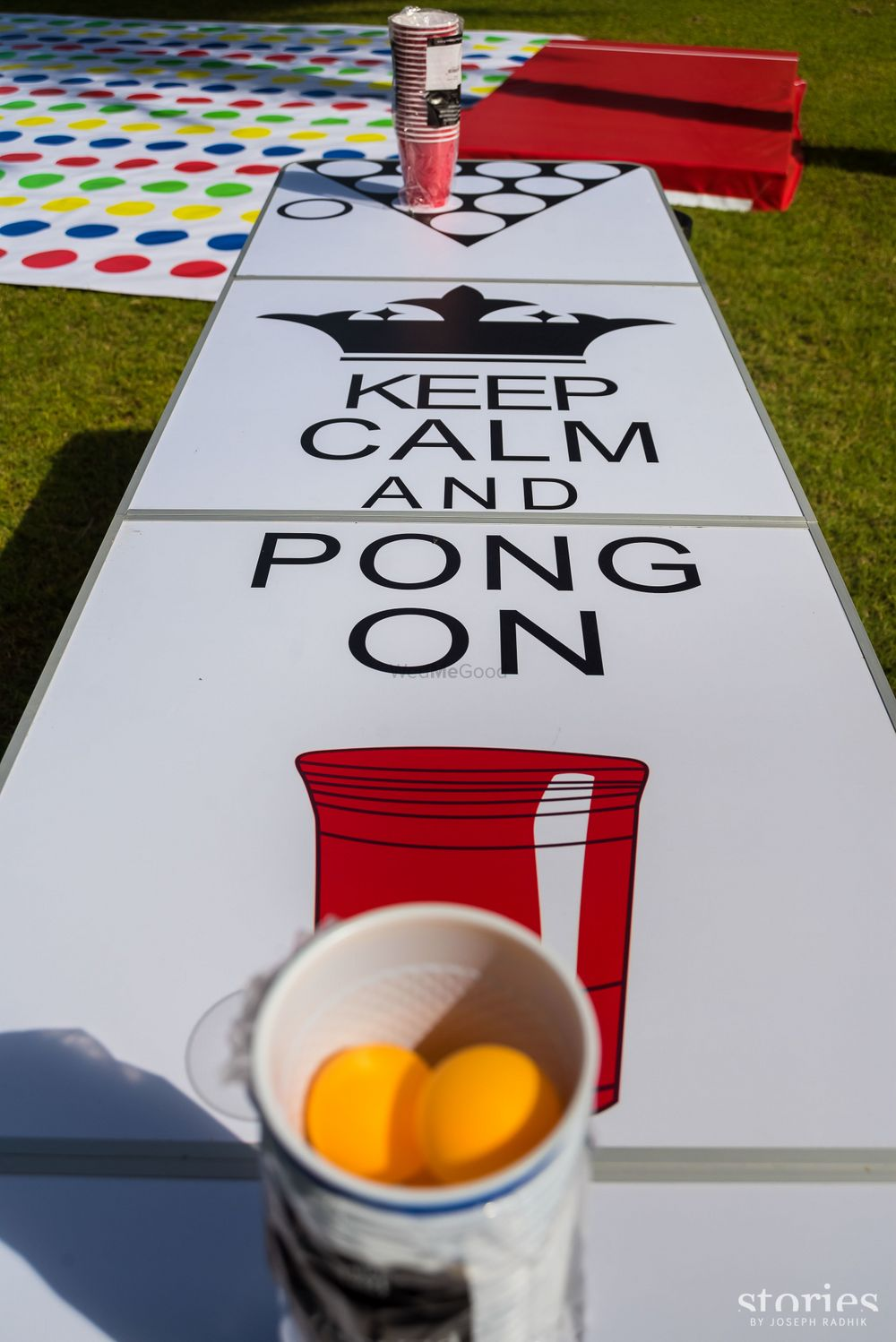 Photo of Fun and funky drinking pong game table