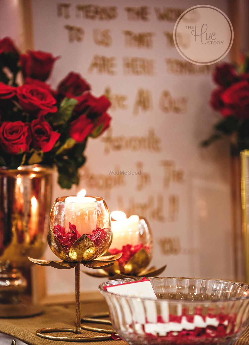 Photo From Red and Gold Wedding Reception - By The Hue Story