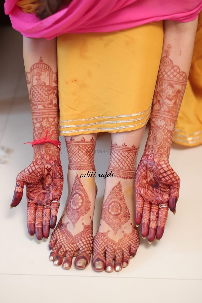 Photo From wedding colours - By Aditis Mehendi Art