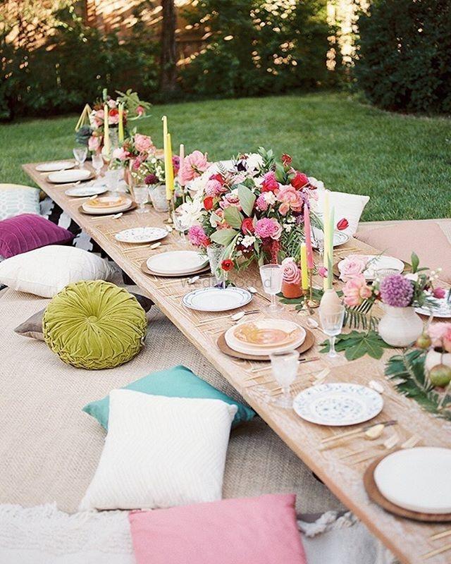 Photo of Backyard engagement decor