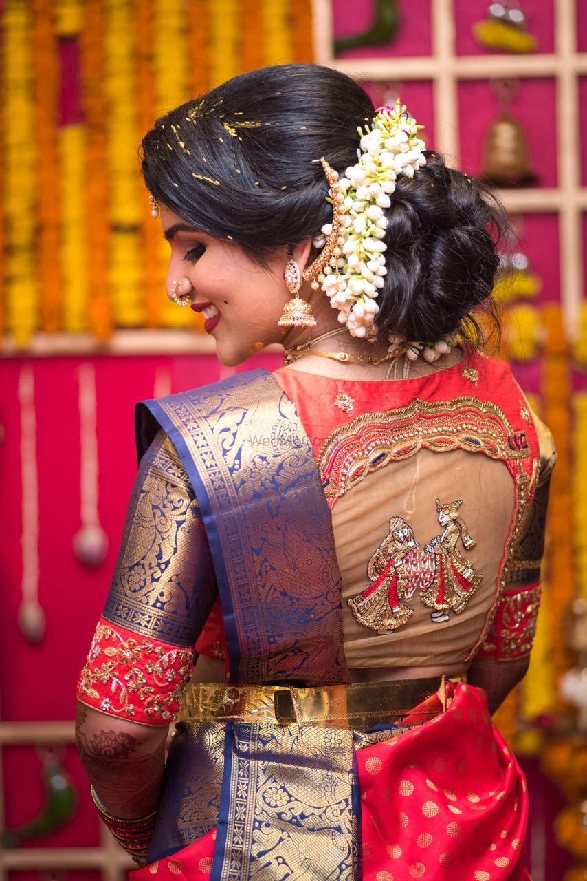 Photo of Blouse back style design for south indian bride