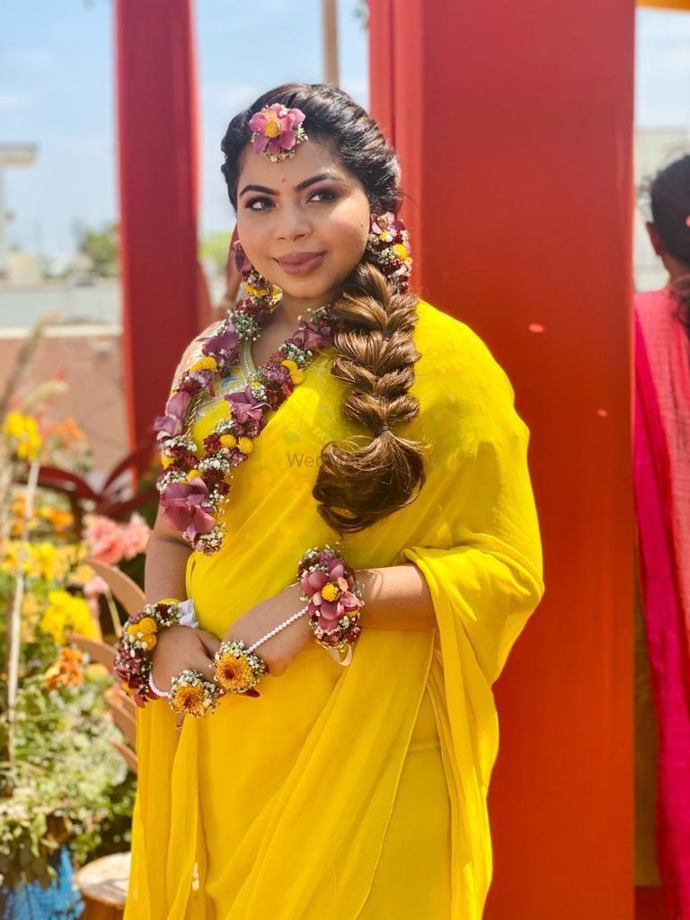 Photo From Mehendi /Haldi Look's - By Make-up by Afsha Rangila