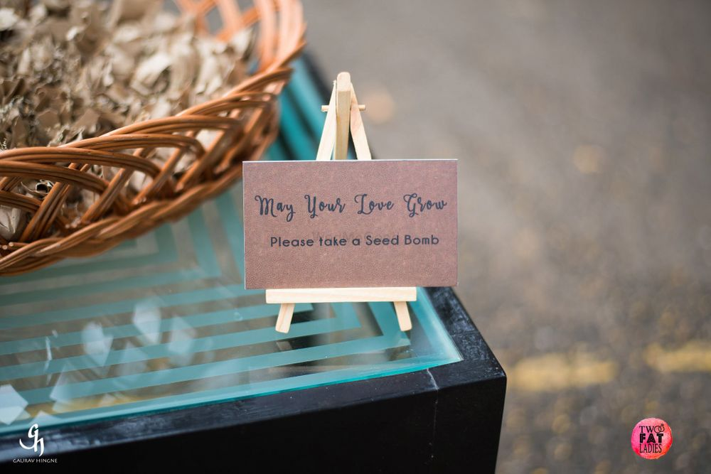 Photo of Green wedding idea seeds as favours