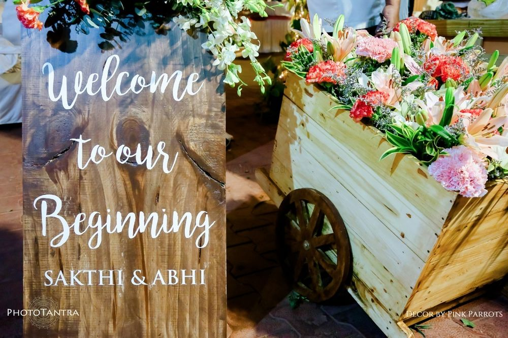Photo From English Garden Themed Wedding - By Pink Parrots