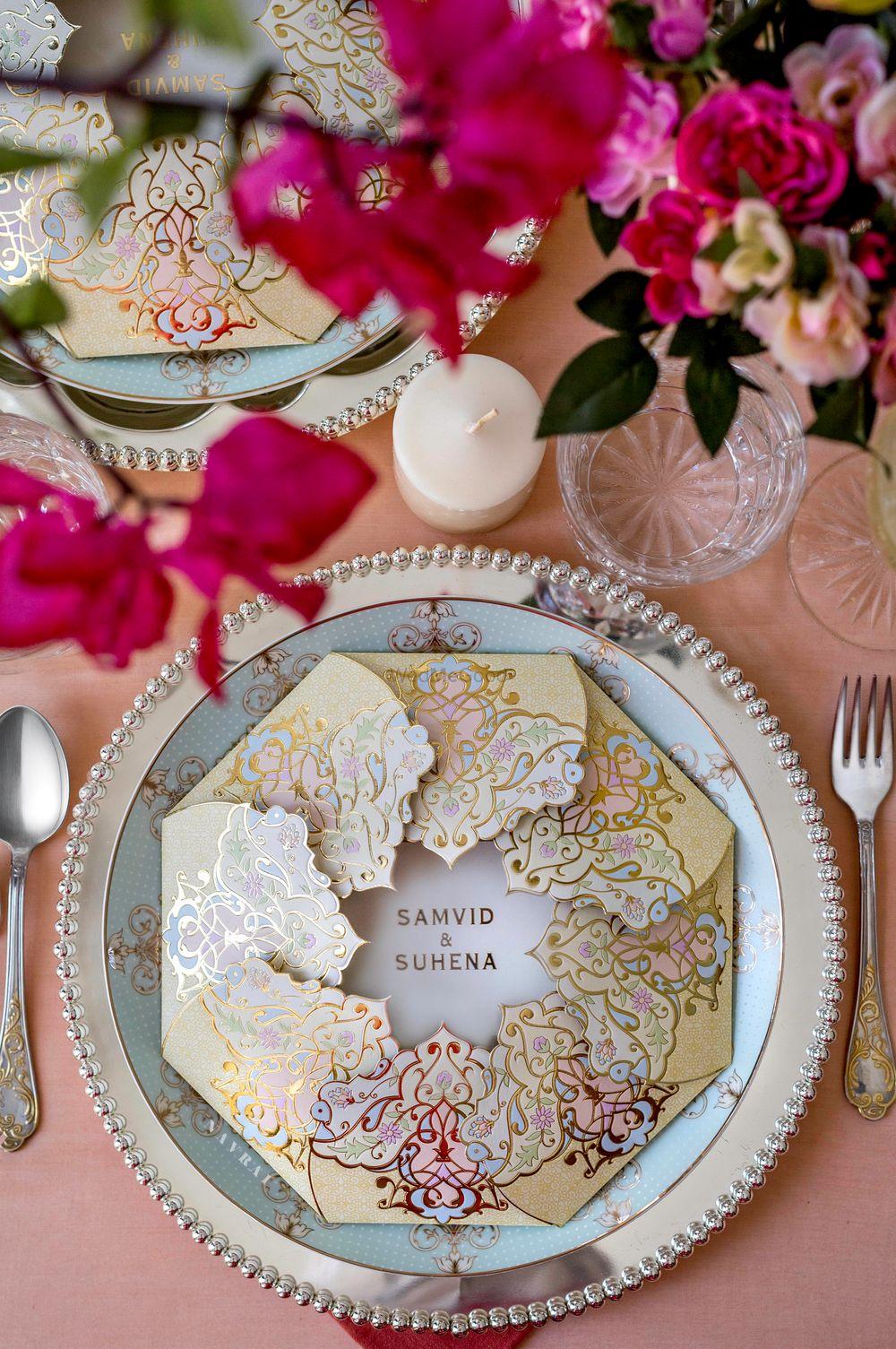 Photo of Unique lotus design wedding card