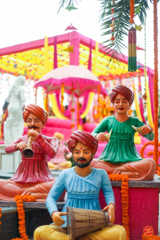 Photo of Rajasthani mehendi decor ideas with puppets