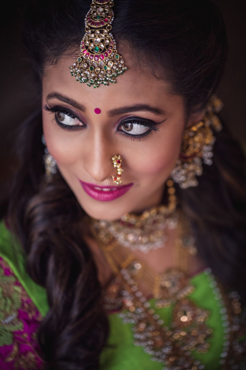 Photo of Dramatic mehendi makeup with winged liner