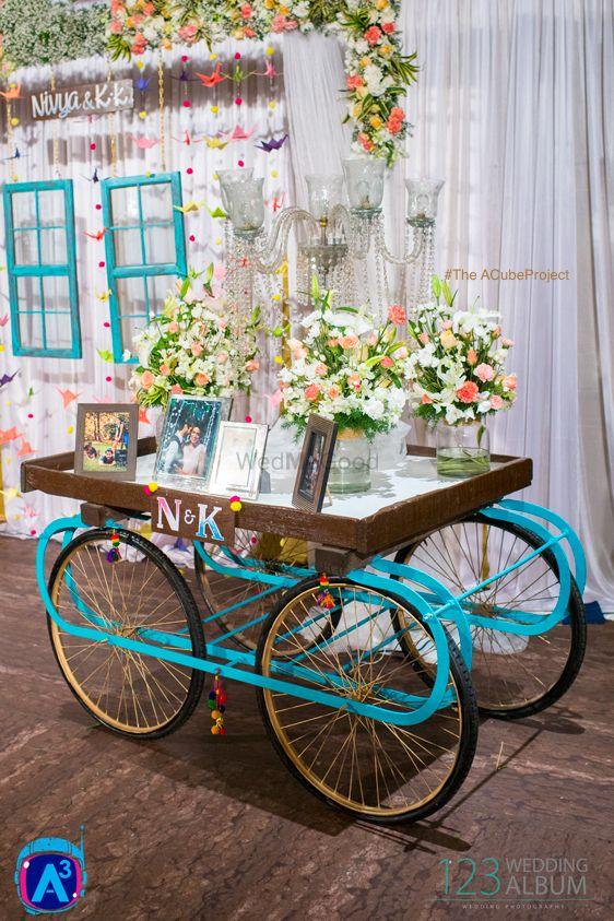 Photo of wedding cart