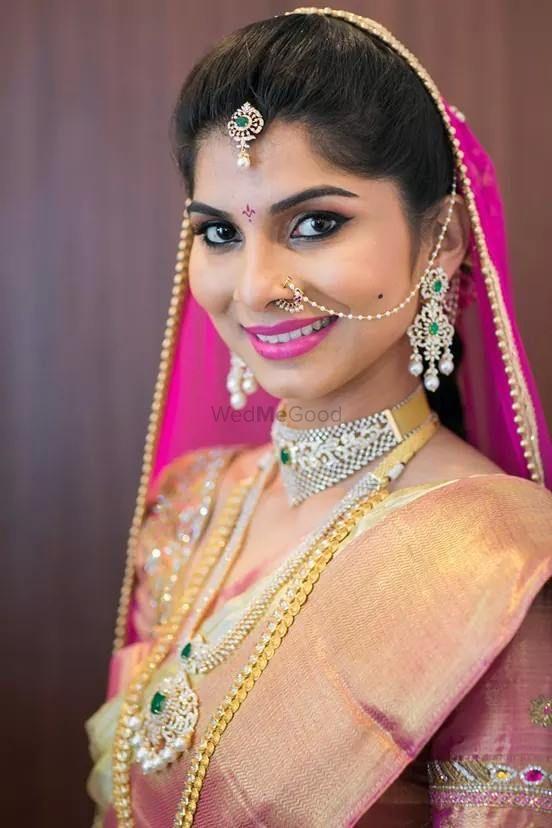 Photo of blush kanjivaram saree