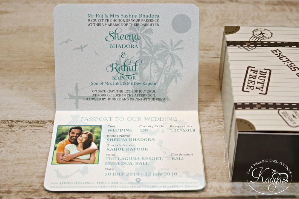 Photo From Destination Wedding- Passport Wedding Invitation - By Kaagaz- Wedding Card Boutique