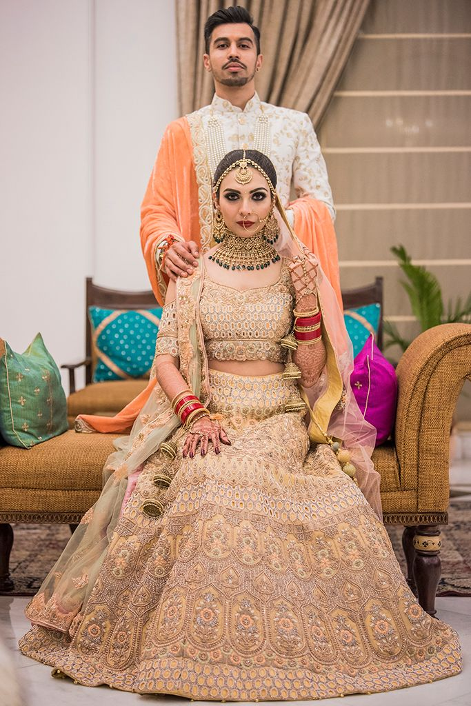 Photo of Nude bridal lehenga idea