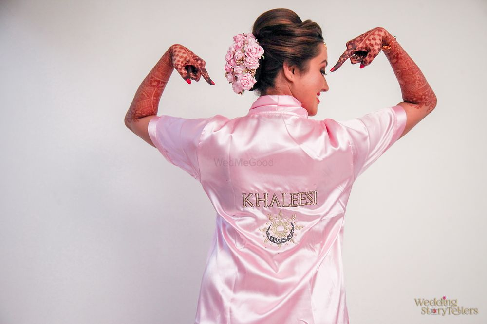 Photo of Cool bridal accessory customised robe