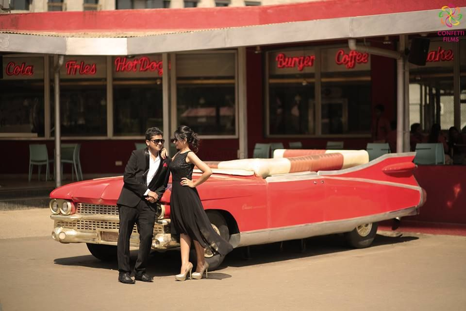 Photo of pre wedding shoot props - car prop