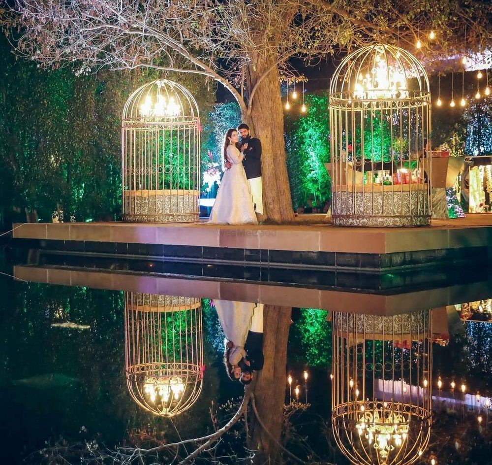 Photo of Birdcage engagement decor