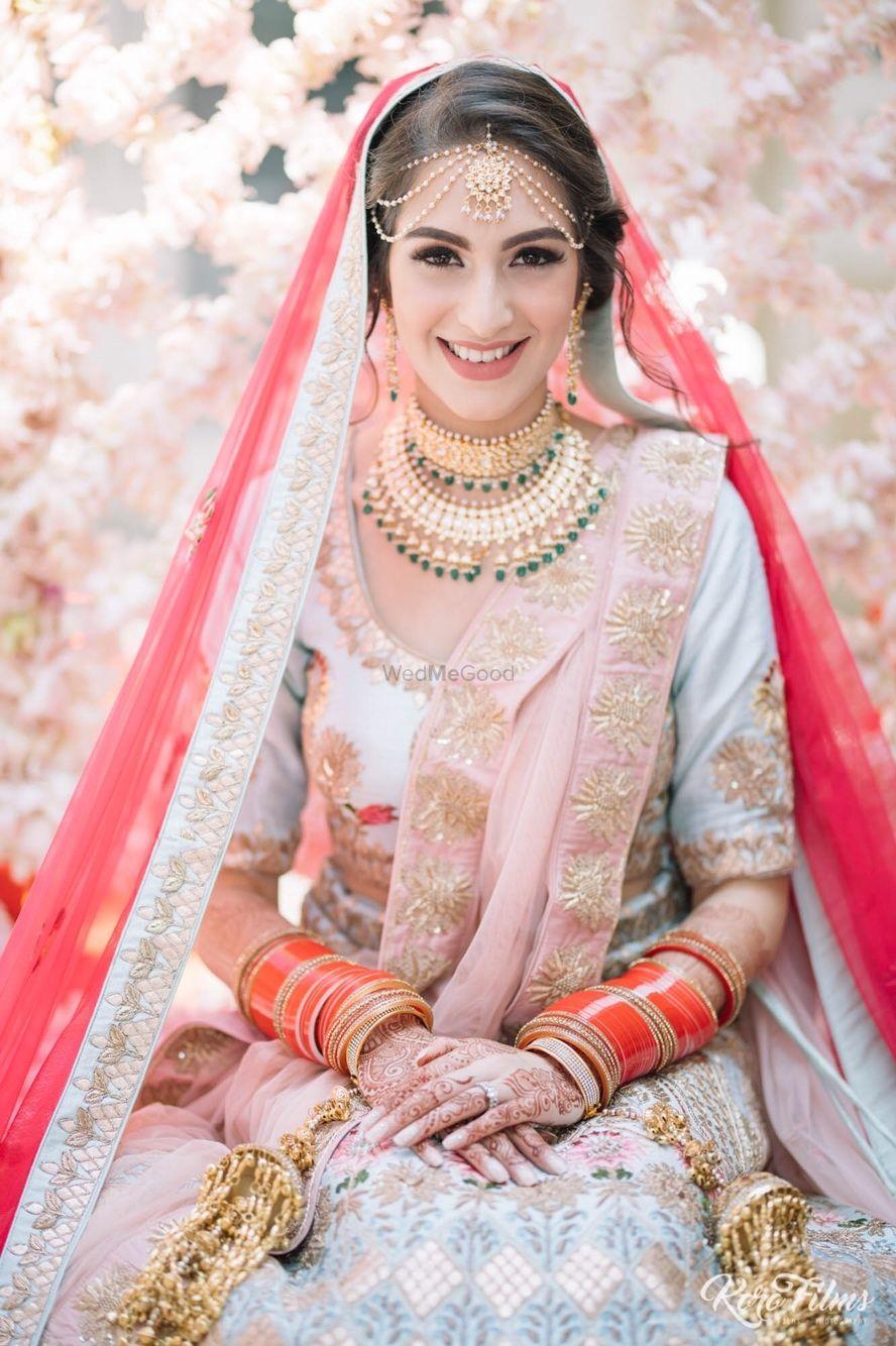 Photo of Colourful bridal lehenga offbeat