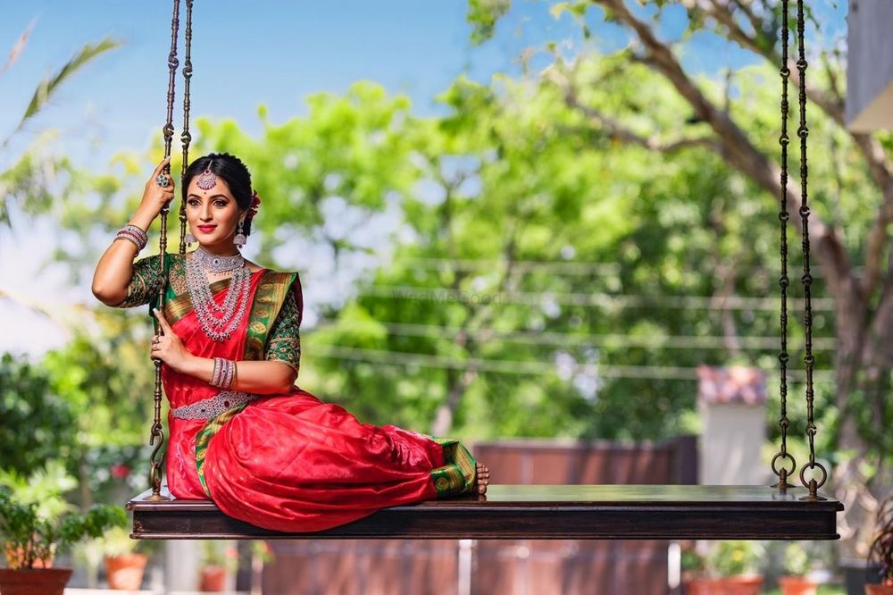 Photo of A south Indian bride in a Kanjeevaram