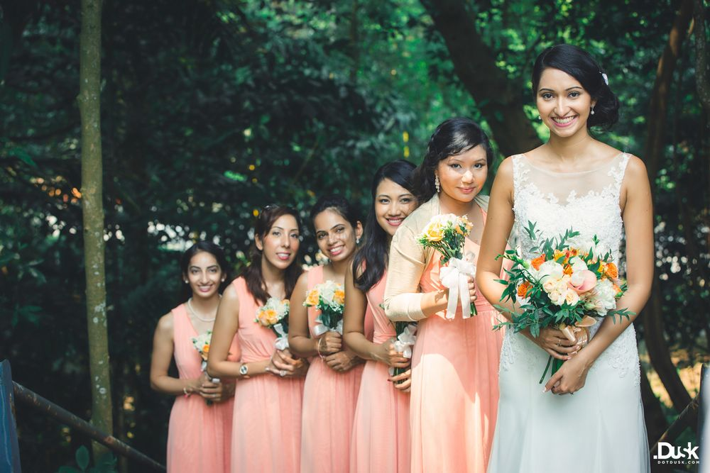 Photo of Bride with Bridesmaids Shot